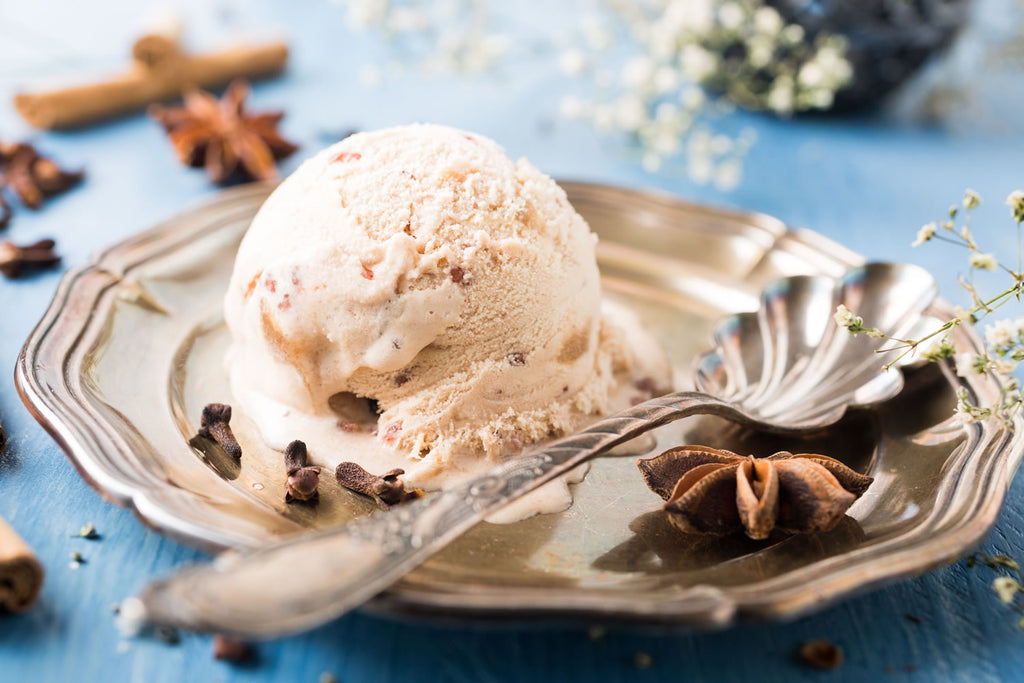 Vegan Chai Ice Cream with Totally Nuts Holiday Almond Milk