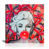 Malab'Art Bubble Love Marilyn Tableau en toile 40 x 40 cm / Chassis