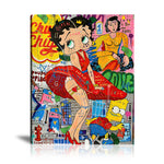 Betty Love Tableau en toile 40 x 60 cm / Chassis