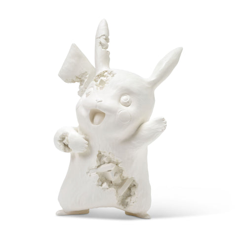 Crystalized Pikachu White Sculpture et Statue