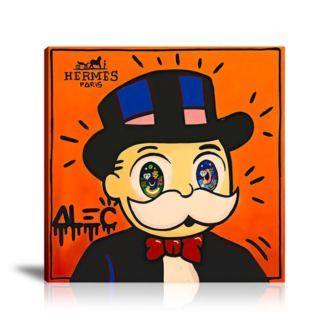 Monopoly Big Eyes Tableau en toile 40 x 40 cm / Chassis