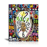 Time Is Money Tableau en toile 40 x 60 cm / Chassis
