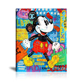 Mickey Mouse Tableau en toile 40 x 60 cm / Chassis