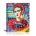 Red Chanel Frida Tableau en toile 40 x 60 cm / Chassis