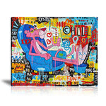 Pink Panther Tableau en toile 40 x 60 cm / Chassis