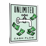 Unlimited Cash Flow Tableau en toile 30 x 40 cm