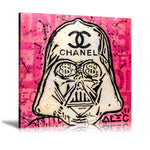 Chanel Sign x Dark Vador Tableau en toile 20 x 20 cm