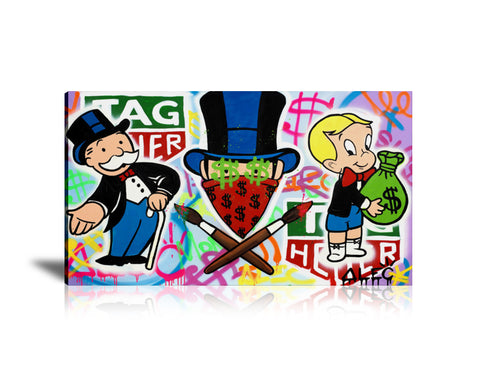 Monopoly Tag Heuer Tableau en toile 40 x 60 cm / Chassis