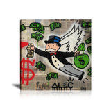 Money Angel Tableau en toile 40 x 40 cm / Chassis
