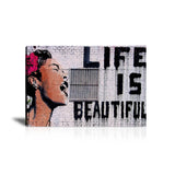 Billie Holiday Life Is Beautiful Tableau en toile 30 x 45 cm