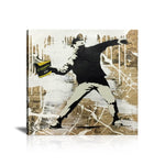 Book Thrower Tableau en toile 40 x 40 cm / Chassis
