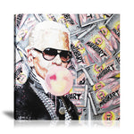 Karl Lagerfeld Malab'Art Tableau en toile 40 x 40 cm / Chassis