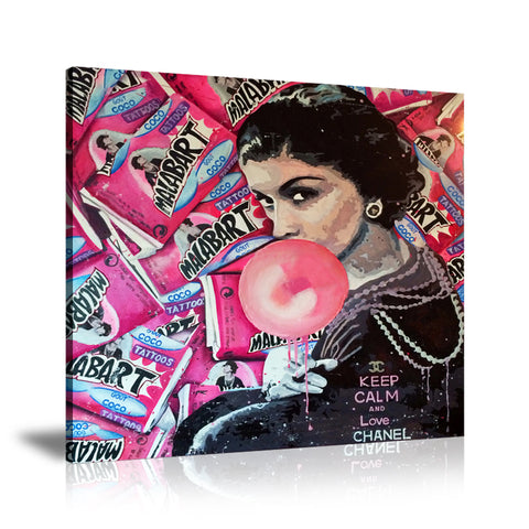 Coco Chanel Malab'Art Tableau en toile 40 x 40 cm / Chassis