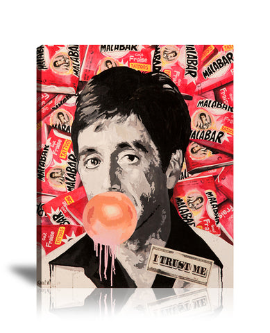 Scarface Malab'Art Tableau en toile 40 x 60 cm / Chassis