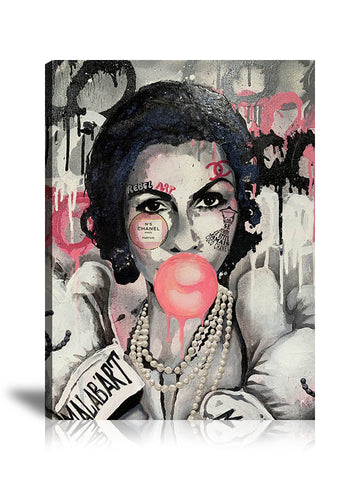 Coco Chanel Malab'Art Tableau en toile 40 x 60 cm / Chassis