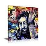 Serge Gainsbourg Malab'Art Tableau en toile 40 x 60 cm / Chassis