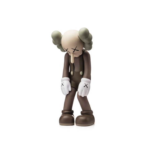 Kaws Small Lie - Brown Sculpture et Statue