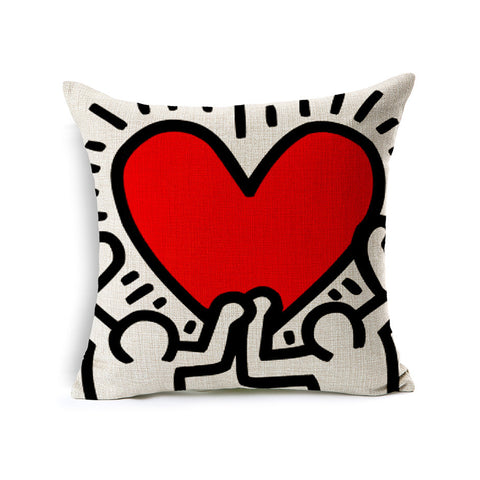 Keith Red Heart Housse de coussin