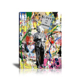 Albert Einstein Love Is The Answer Tableau en toile 40 x 60 cm / Chassis