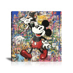 Mickey Mouse Tableau en toile 40 x 40 cm / Chassis