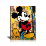 Mickey Mouse Graffiti Tableau en toile 40 x 60 cm / Chassis