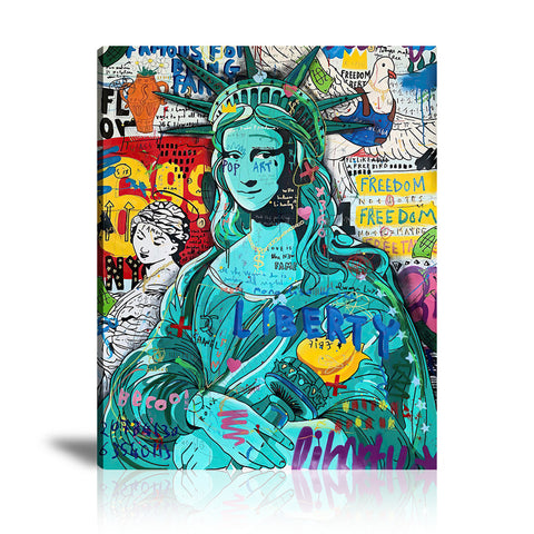 Mona of The Liberty Tableau en toile 40 x 60 cm / Chassis