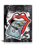 Money Talks Tableau en toile 40 x 50 cm