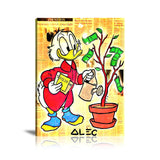 Money Tree Plant Tableau en toile 40 x 60 cm / Chassis