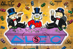 Monopoly Sitting In Table Game Tableau en toile