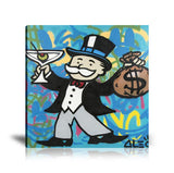 Monopoly Man Cheers Tableau en toile 40 x 40 cm / Chassis