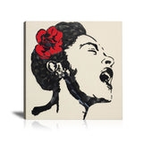 Billie Holiday Tableau en toile 30 x 30 cm
