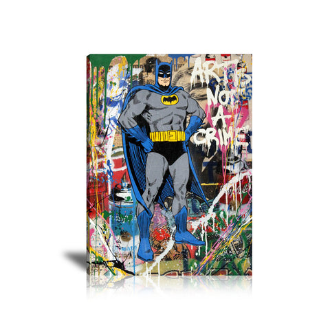 Batman Art Is Not A Crime Tableau en toile 40 x 60 cm / Chassis