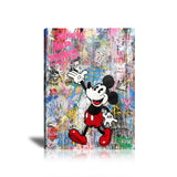 Mickey Follow Your Dreams Tableau en toile 40 x 60 cm / Chassis
