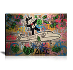 Fly With Money Tableau en toile 40 x 60 cm / Chassis