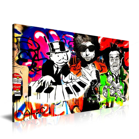 Piano Pop Icon Tableau en toile 40 x 60 cm / Chassis