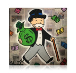 Monopoly Cash And Smile Tableau en toile 40 x 40 cm / Chassis