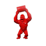 Wild Kong Barrel Red Sculpture et Statue 40 cm