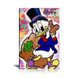 Scrooge McDuck Big Money Bag Tableau en toile 30 x 45 cm