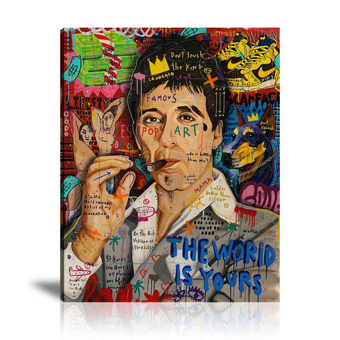 Tony The King Tableau en toile 40 x 60 cm / Chassis