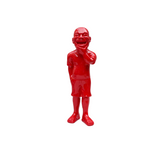 Yue Minjun Giggle - Red Sculpture et Statue