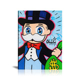 Monopoly Big Eyes With $ Bag Tableau en toile 40 x 60 cm / Chassis