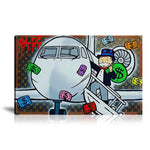 Private Airplane Tableau en toile 40 x 60 cm / Chassis