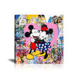 Mickey & Minnie Mouse Tableau en toile 40 x 40 cm / Chassis