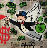 Money Angel Tableau en toile