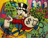Run With The Money Tableau en toile