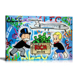 Rich Airways Tableau en toile 30 x 45 cm
