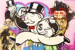 Monopoly Money Bag Tableau en toile