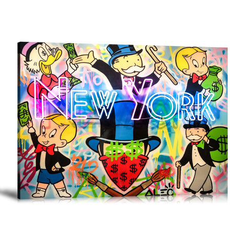 Born in New York Tableau en toile 40 x 60 cm / Chassis