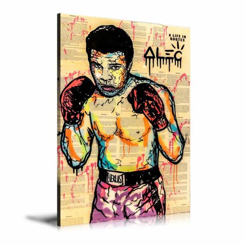 Muhammad Ali Boxing Tableau en toile 40 x 60 cm / Chassis