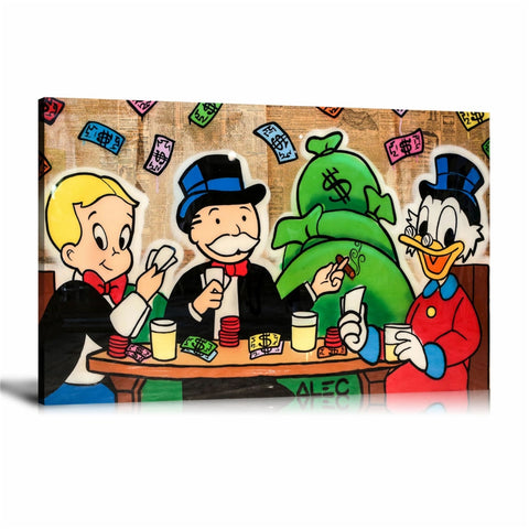 Monopoly Playing Card Tableau en toile 40 x 60 cm / Chassis